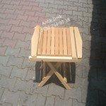 Sandalyenin sehpa olmuş hali
