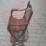 Antik el yapımı ahşap sandalye